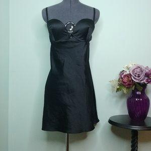 Victoria's Secret Black Satin Babydoll Lingerie